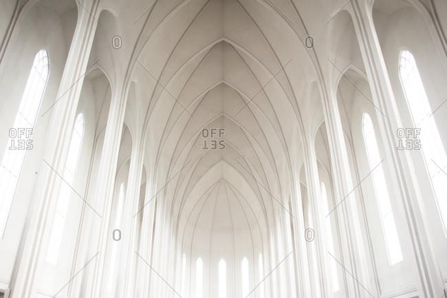 Interior of Hallgrimskirkja Cathedral