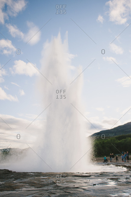 A spewing Geyser in Iceland