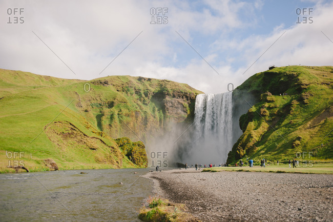 Skogafoss waterfall in the south of Iceland