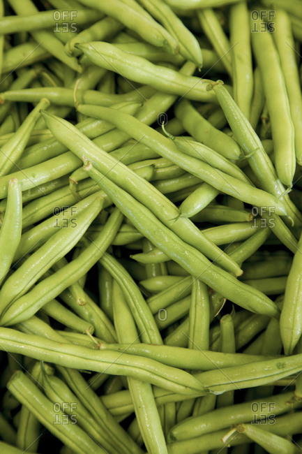 close up of green beans