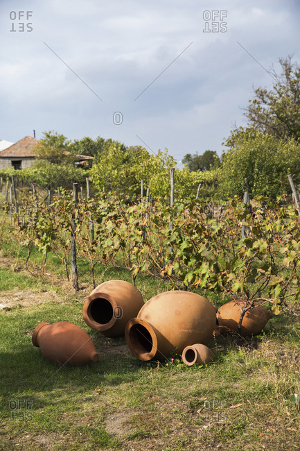 Traditional qvevri or kvevri used to store traditional Georgian wine