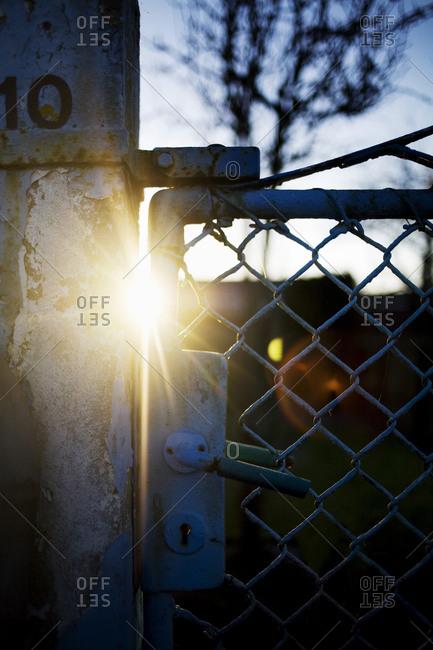 Sunbeams through a fence