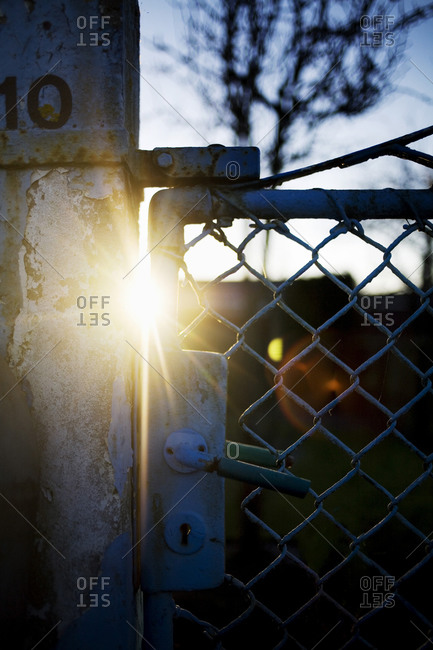 Sunbeams through a fence