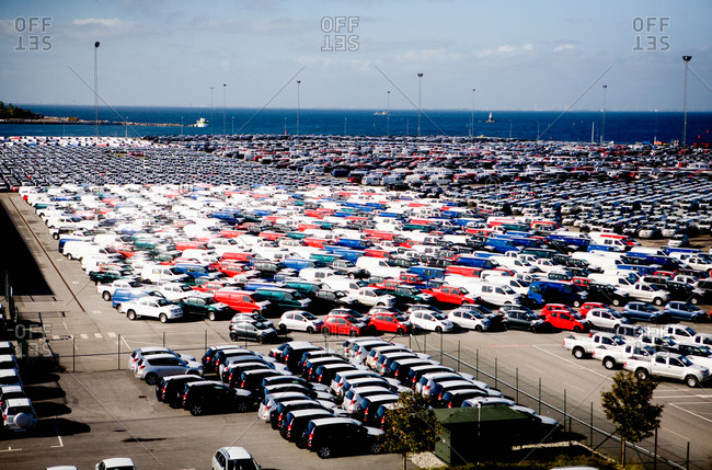 A enormous parking lot