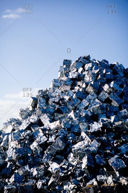 A big garbage mountain