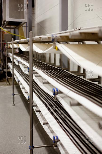 Factory licorice production belt