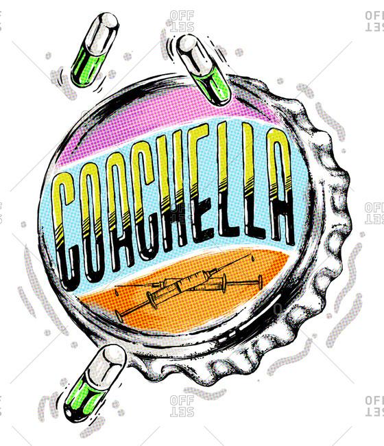 Illustration of Coachella - Offset Collection