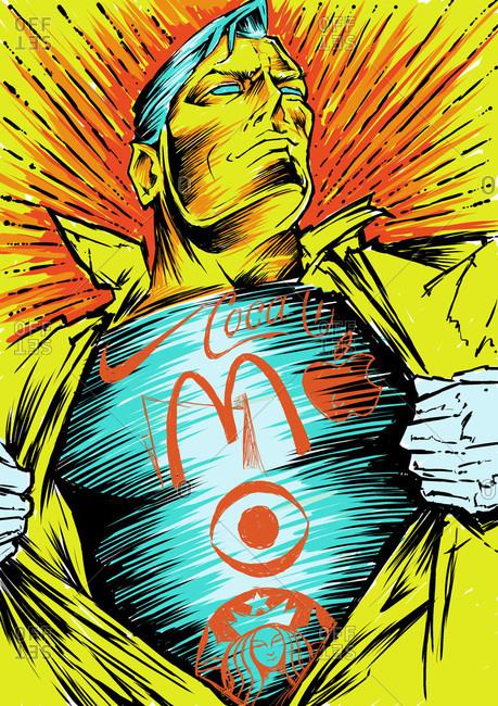 Illustration of Captain America