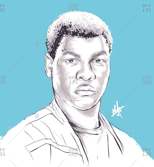 Illustration of Star Wars character, Finn