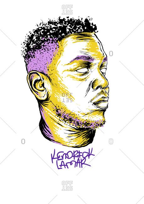 Illustration of American rapper Kendrick Lamar