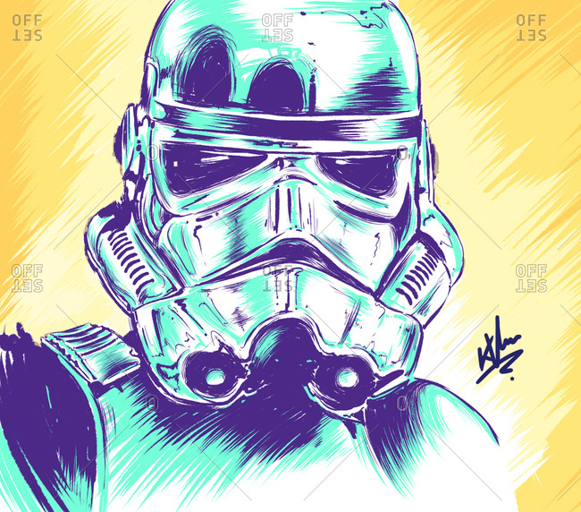 Illustration of Star Wars character, Stormtrooper