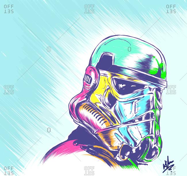 Illustration of Star Wars Stormtrooper