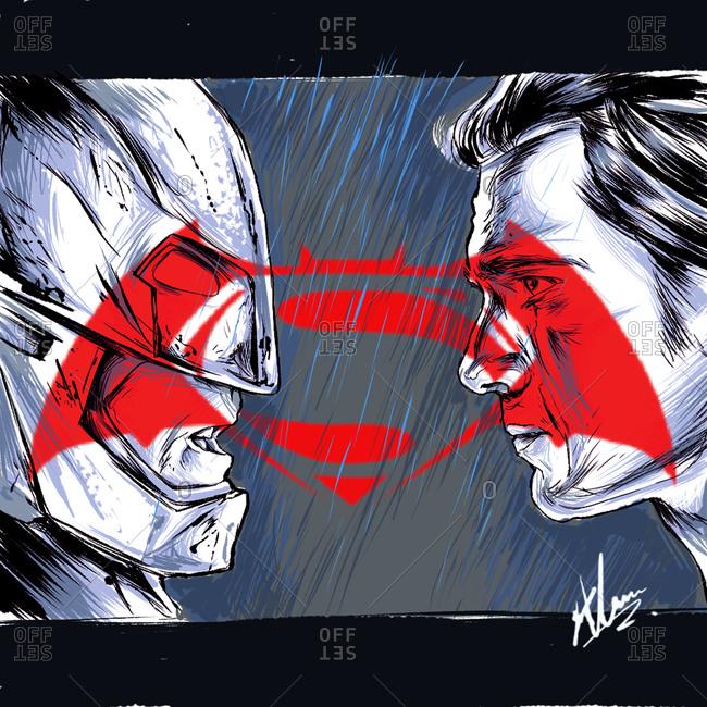 Illustration of Batman and Superman
