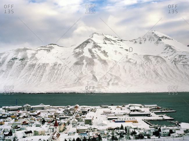Aerial view of Siglufjörður, Iceland