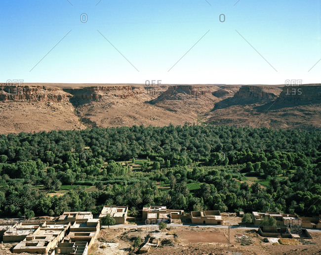 Village at the edge of the Sahara Desert in Morocco