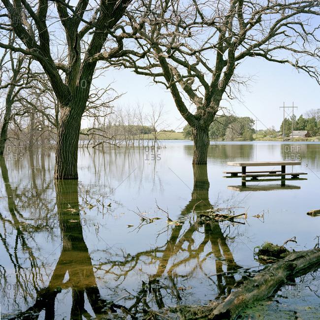 Flood scene in Pennsylvania