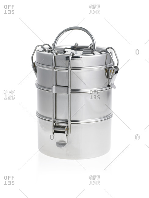 Asian Bento lunchbox on a white background