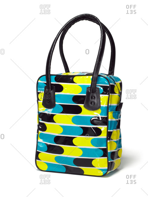 Colored bag on a white background