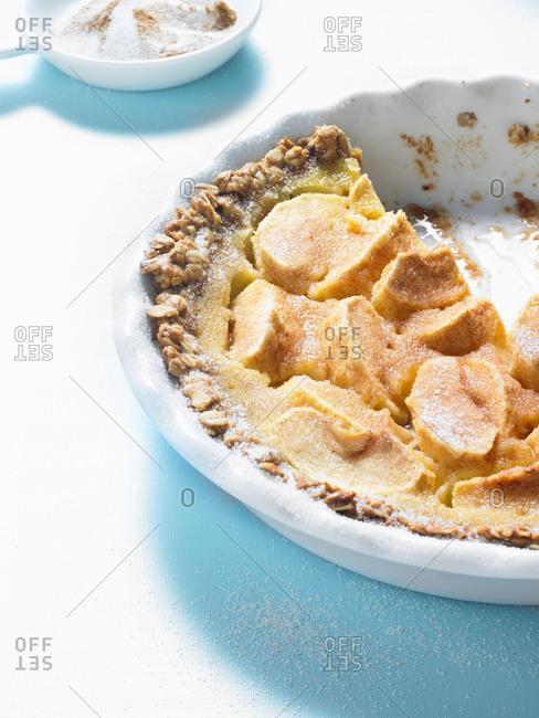 Close-up of an apple pie