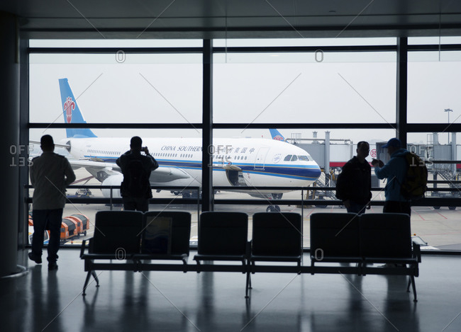 Shanghai, China - March 29, 2016: Terminal at the Shanghai Pudong International Airport in Shanghai, China