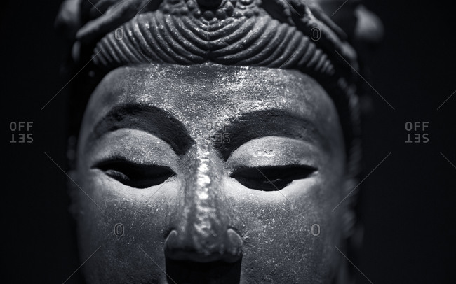 Close-up of a Buddha statue in a museum in Shanghai, China