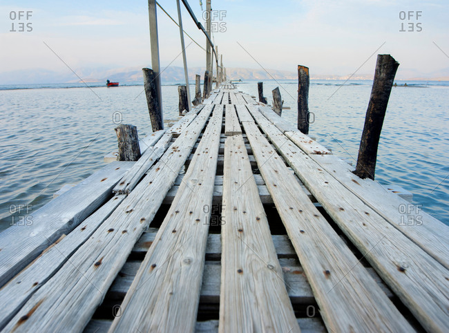 Wooden pontoon, Corfu, Greece - Offset