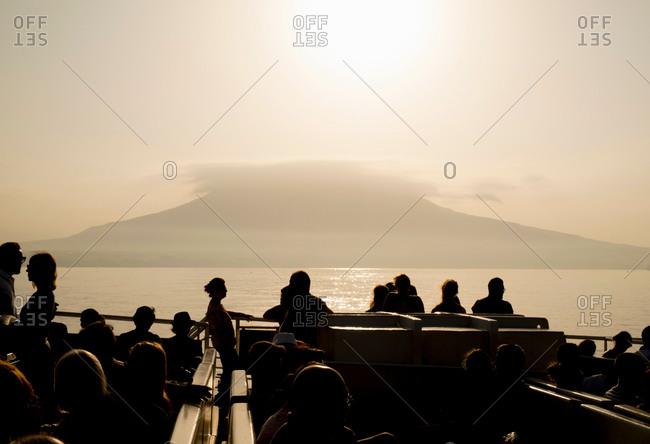 Tourists, Vesuvio Volcano, Napoli, Campania, Italia