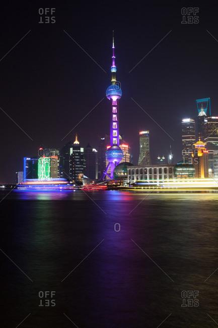 View of Shanghai at night
