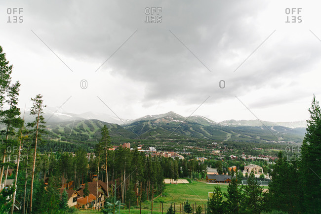 Community in mountain setting