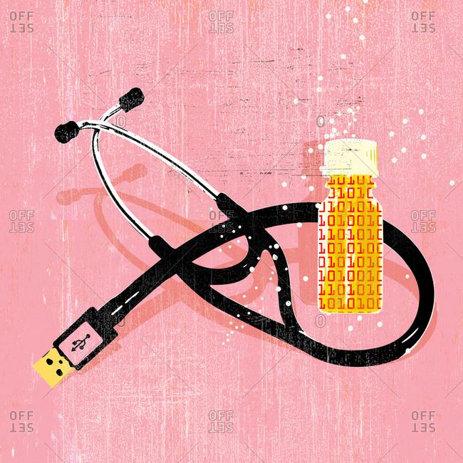 Digital stethoscope and digital prescription pill bottle