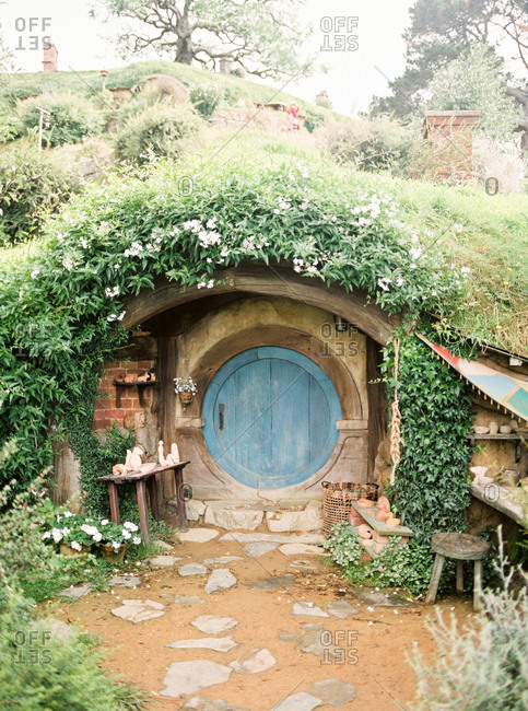 Film set stock photos offset for Earth covered homes