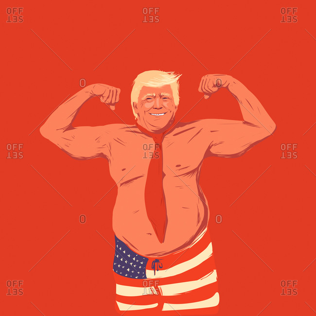 Donald Trump shows muscles