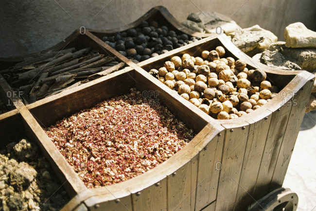 Close up of grain for sale in market