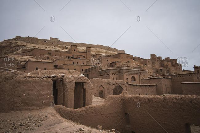 Ancient ruin buildings, Ouarzazate, Souss-Massa-Draa, Morocco