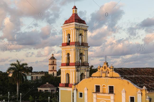 High angle view of Iglesia de San Juan Bautista, Remedios, Villa Clara, Cuba