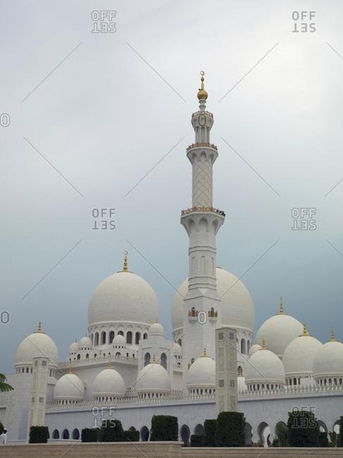 High rise buildings in cityscape, Abu Dhabi Emirate, United Arab Emirates