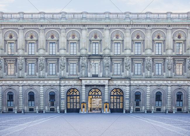 Royal Palace and courtyard, Stockholm, Stockholm, Sweden