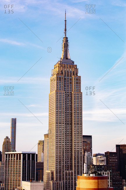 New York, NewYork, USA - June 7, 2015: Highrise building in New York cityscape, New York, United States