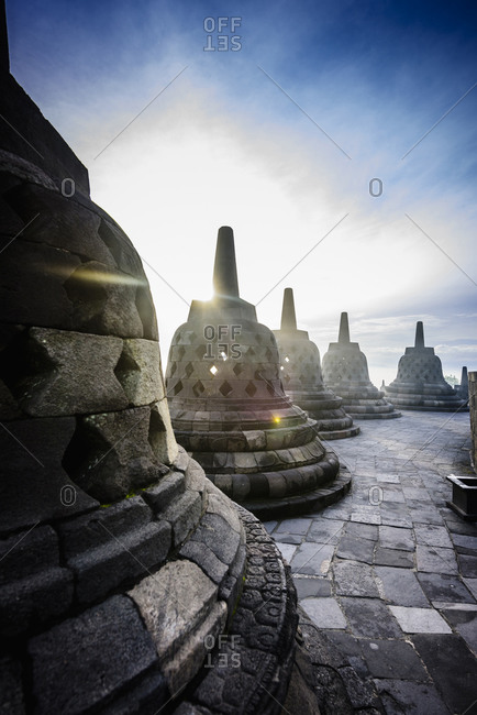 Monuments in Borobudur, Jawa Tengah, Indonesia