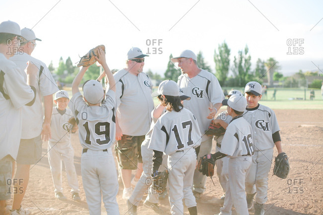 April 12, 2016: Youth baseball team on field