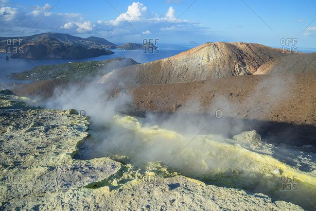 Gran Cratere, Vulcano Island, Aeolian Islands, Sicily, Italy