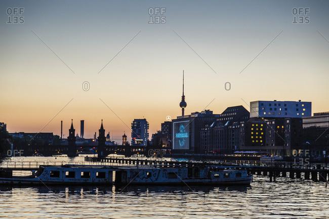 May 24, 2015: Skyline of Berlin, Kreuzberg, Berlin, Germany