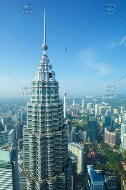 December 22, 2015: Asia, Malaysia, Kuala Lumpur, View from Petronas Towers