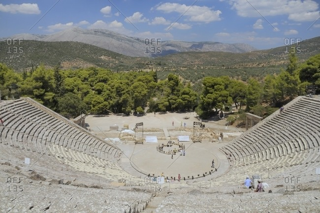 Ancient theatre of Epidaurus, Argolis, Peloponnese, Greece