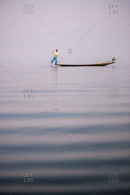 March 23, 2015: Inle Lake Fisherman, Myanmar