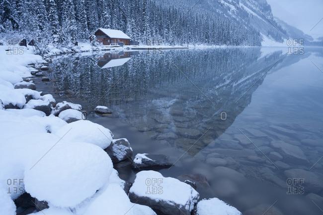 Boat House at Lake Louise, Banff National Park, Alberta, Canada