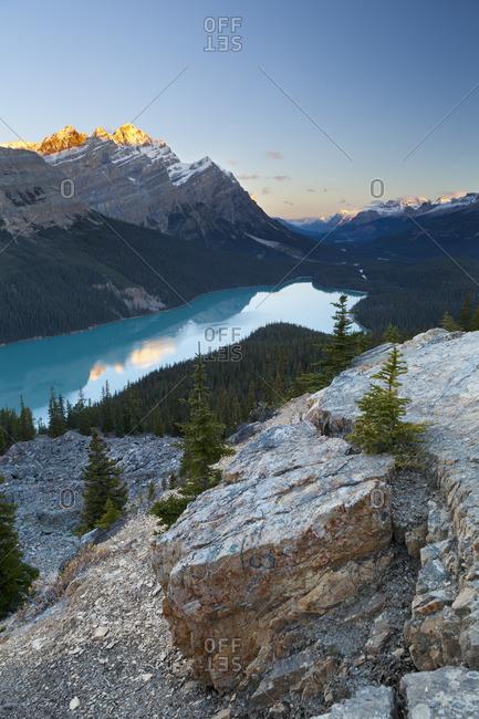 Peyto Lake at Sunrise, Banff National Park, Alberta, Canada