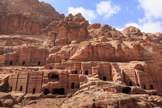 Tombs, Street of Facades, Petra, Jordan, Middle East