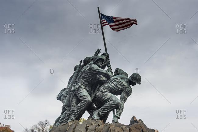 November 22, 2015: US Marine Corps war memorial, Arlington, Virginia, USA