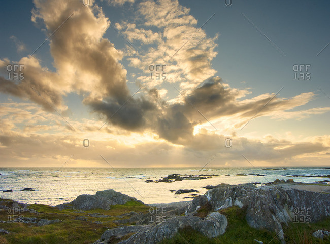 Sunset over the sea, Isle of Colonsay, Scotland